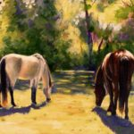 Painting of horses by Penny Marz